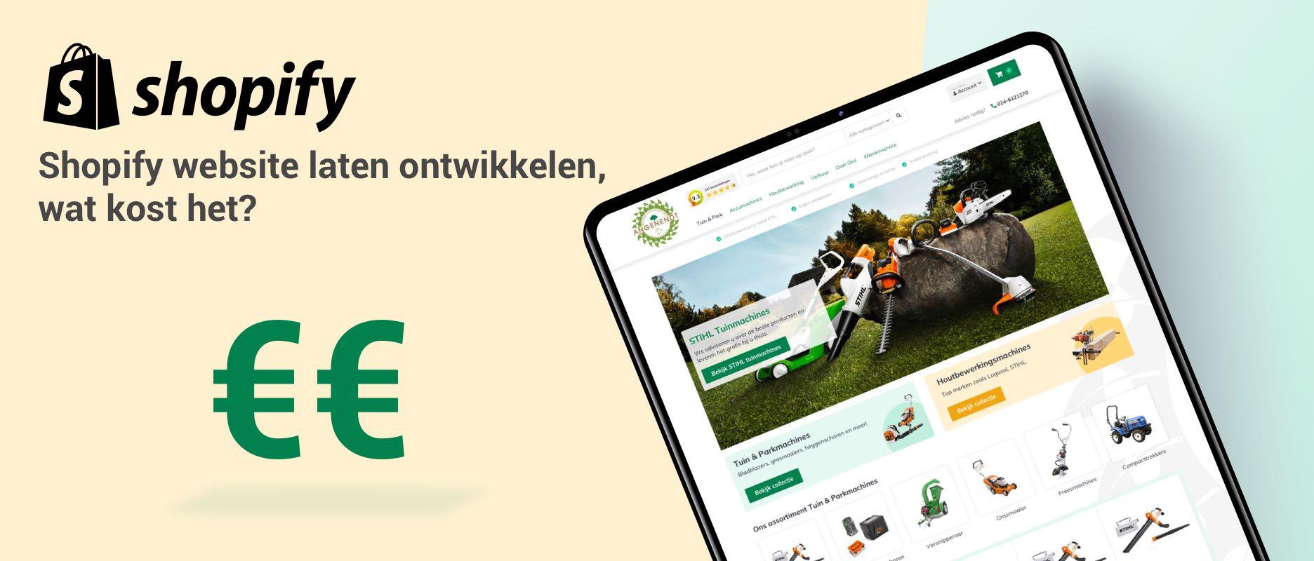 Shopify webshop laten maken, wat zijn de kosten?