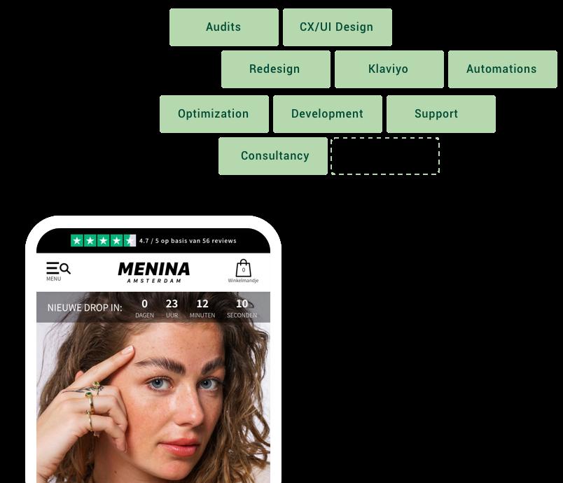 Redesign voor Menina Amsterdam