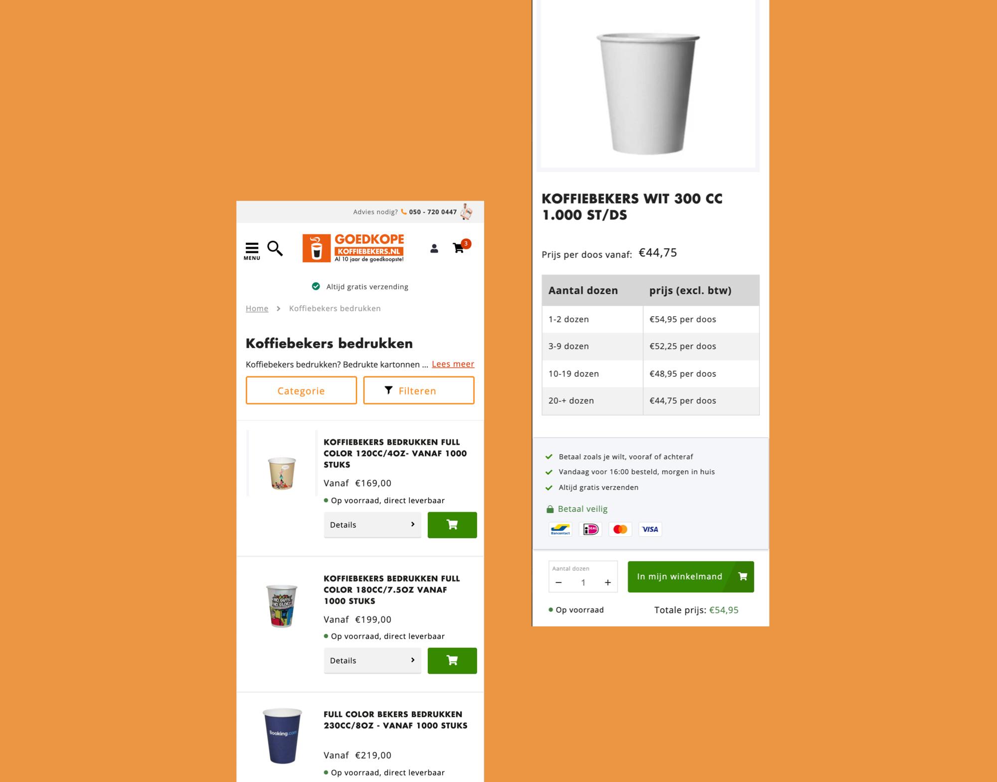 Succesvolle migratie van Magento 1 naar Shopify voor Goedkope koffiebekers