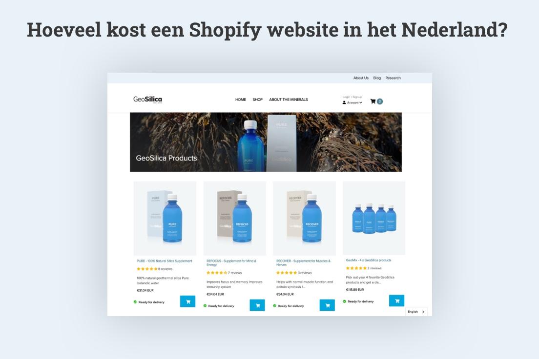 Hoeveel kost een shopify website?