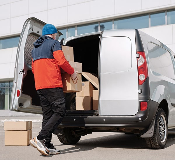 Man loading a delivery