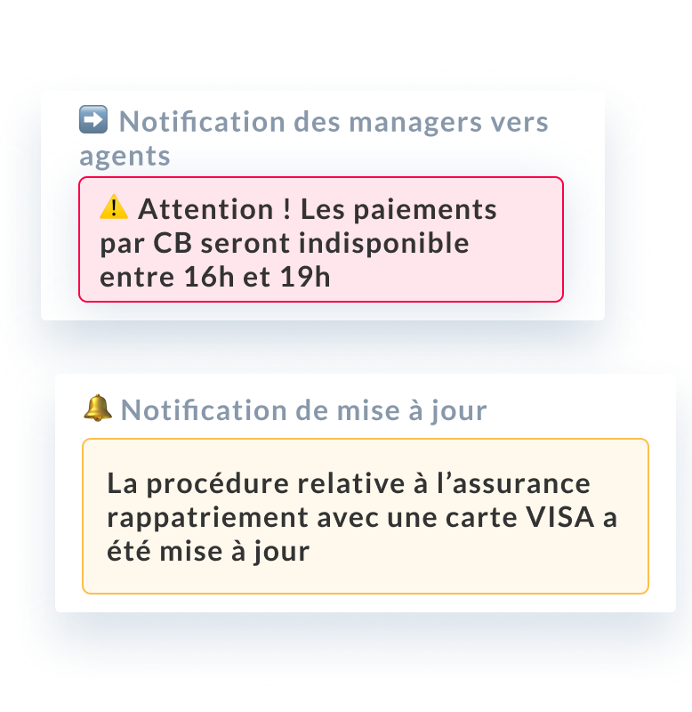 Mayday notification connaissance et process