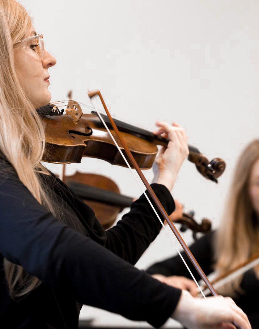 Detailaufnahme Violine während einer Probe