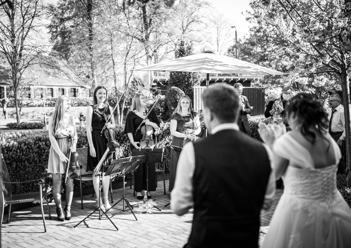 Foto des Quartetts auf einer Hochzeitfeier