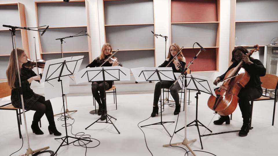 Studioaufnahme vom Joker Quartett
