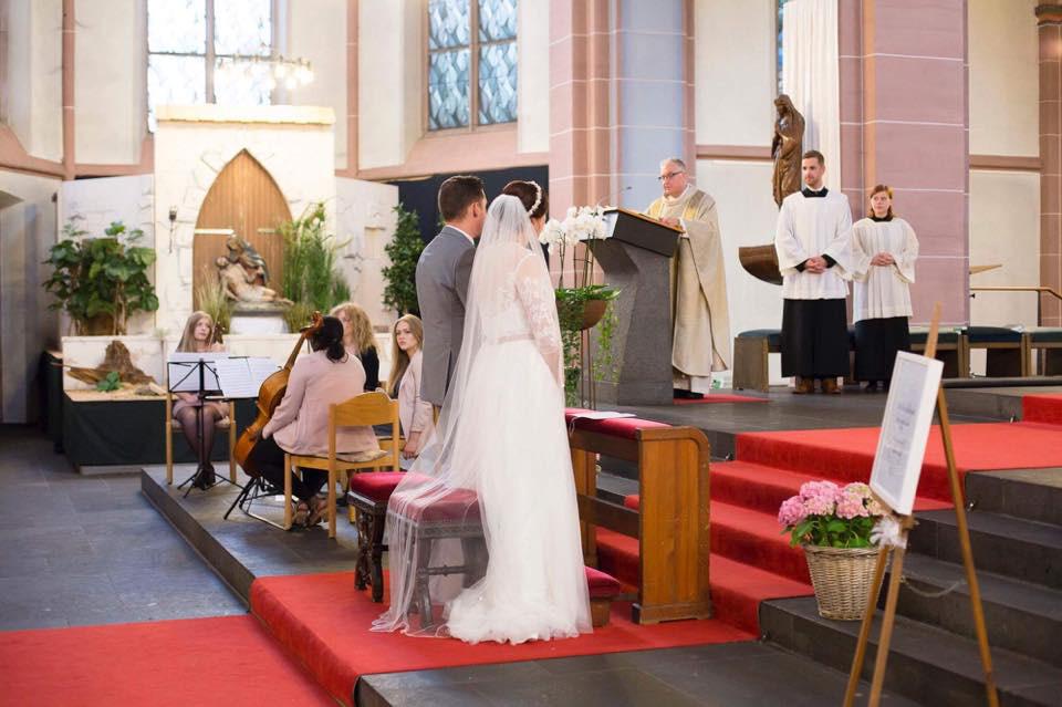 Einblick in Auftritt bei Hochzeit