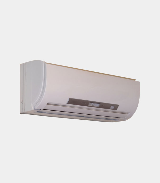 Ductless system on light gray background.