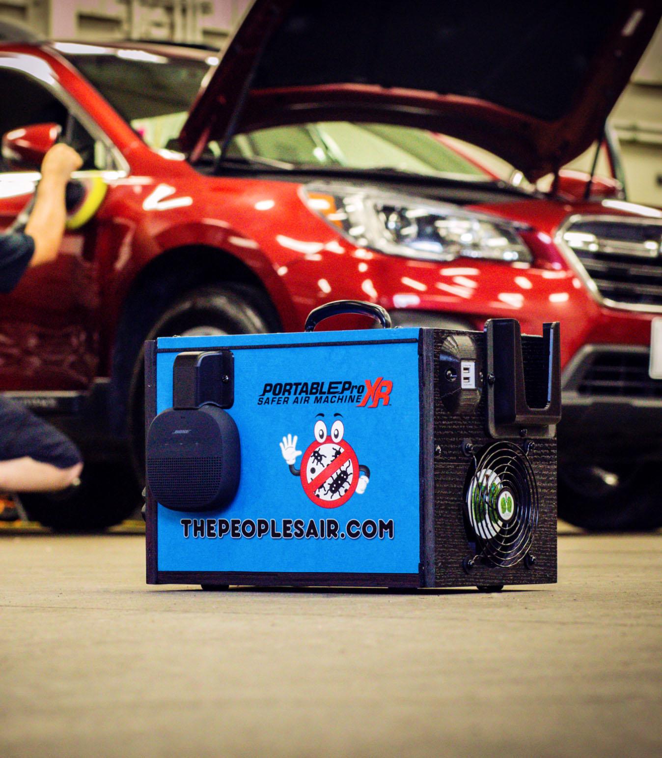 Portable Pro XR Air Machine in garage.