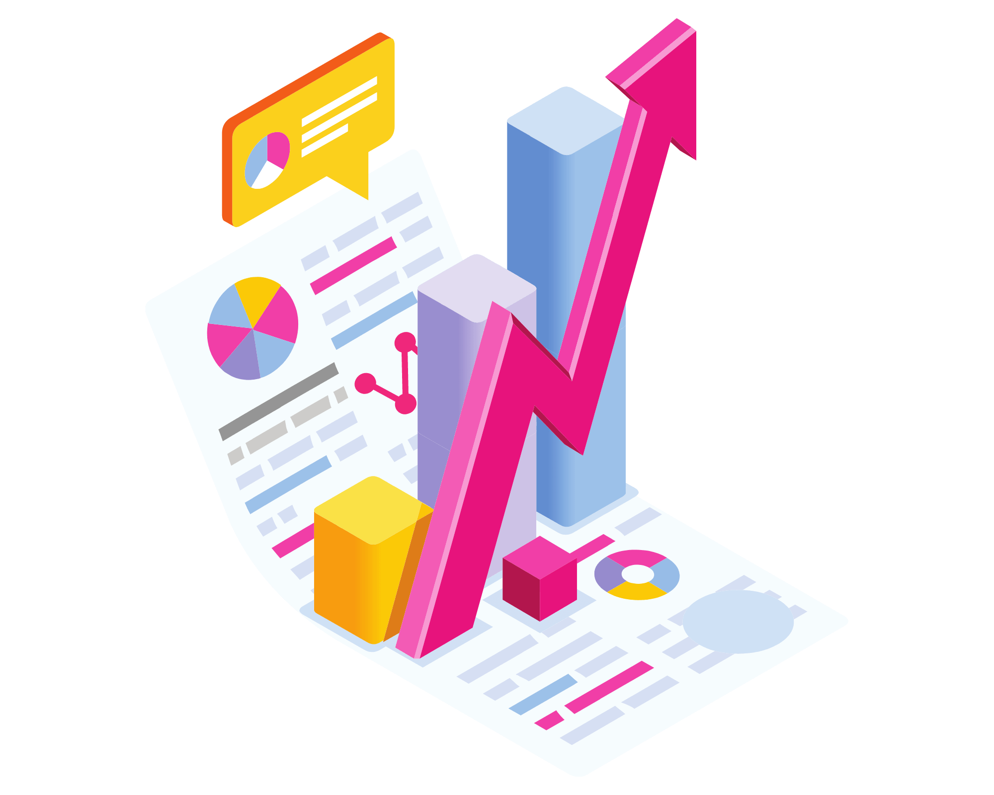 Report with growth charts