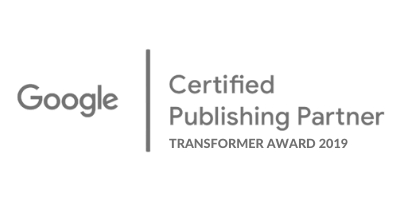 Google Certified Publishing Partner Transformer Award