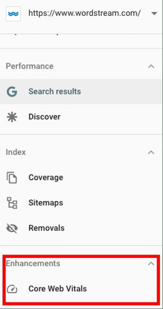 Using Google Search Console to measure Google Core Web Vitals