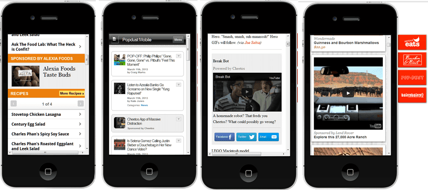 Native advertising on mobile