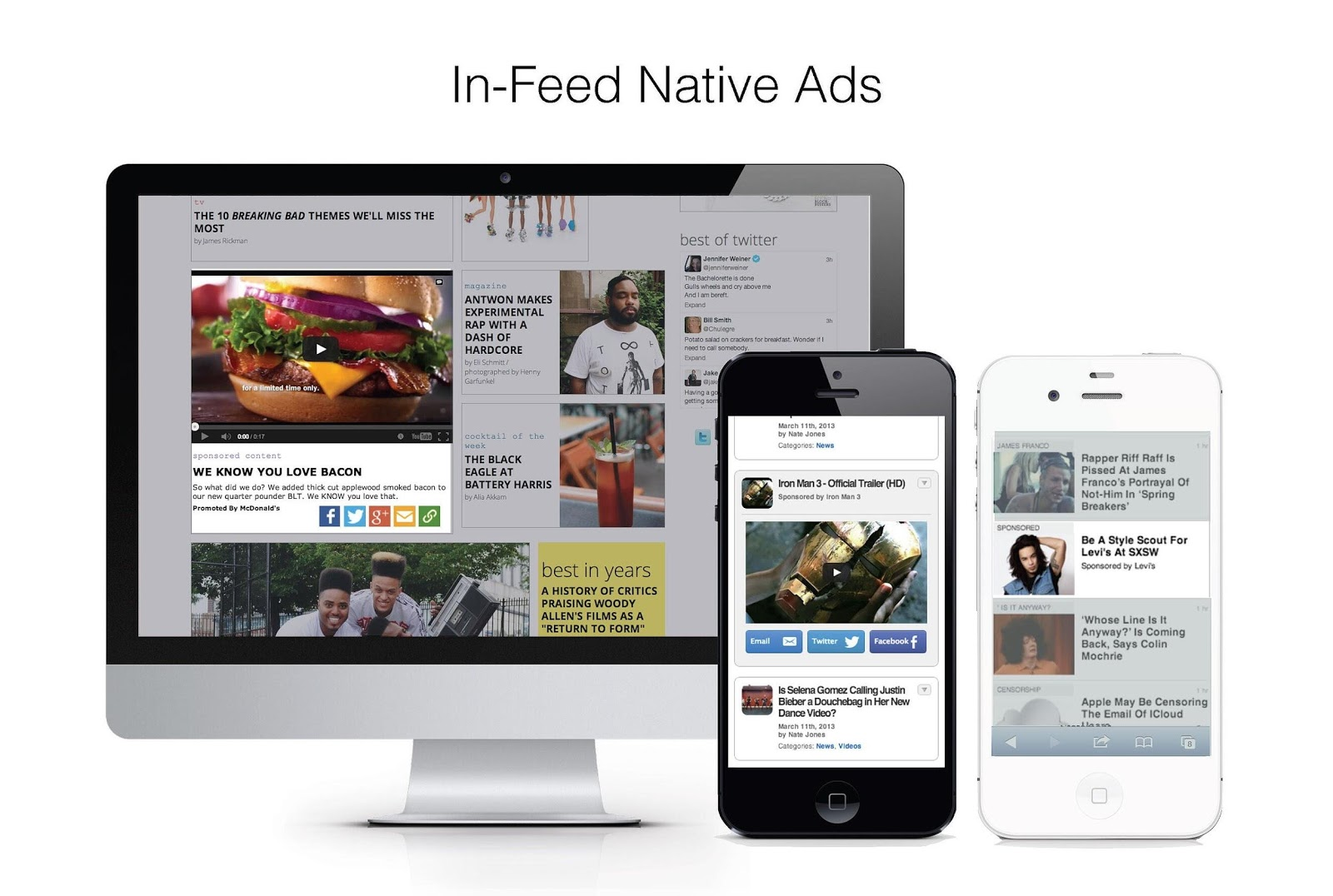 In-feed native ads