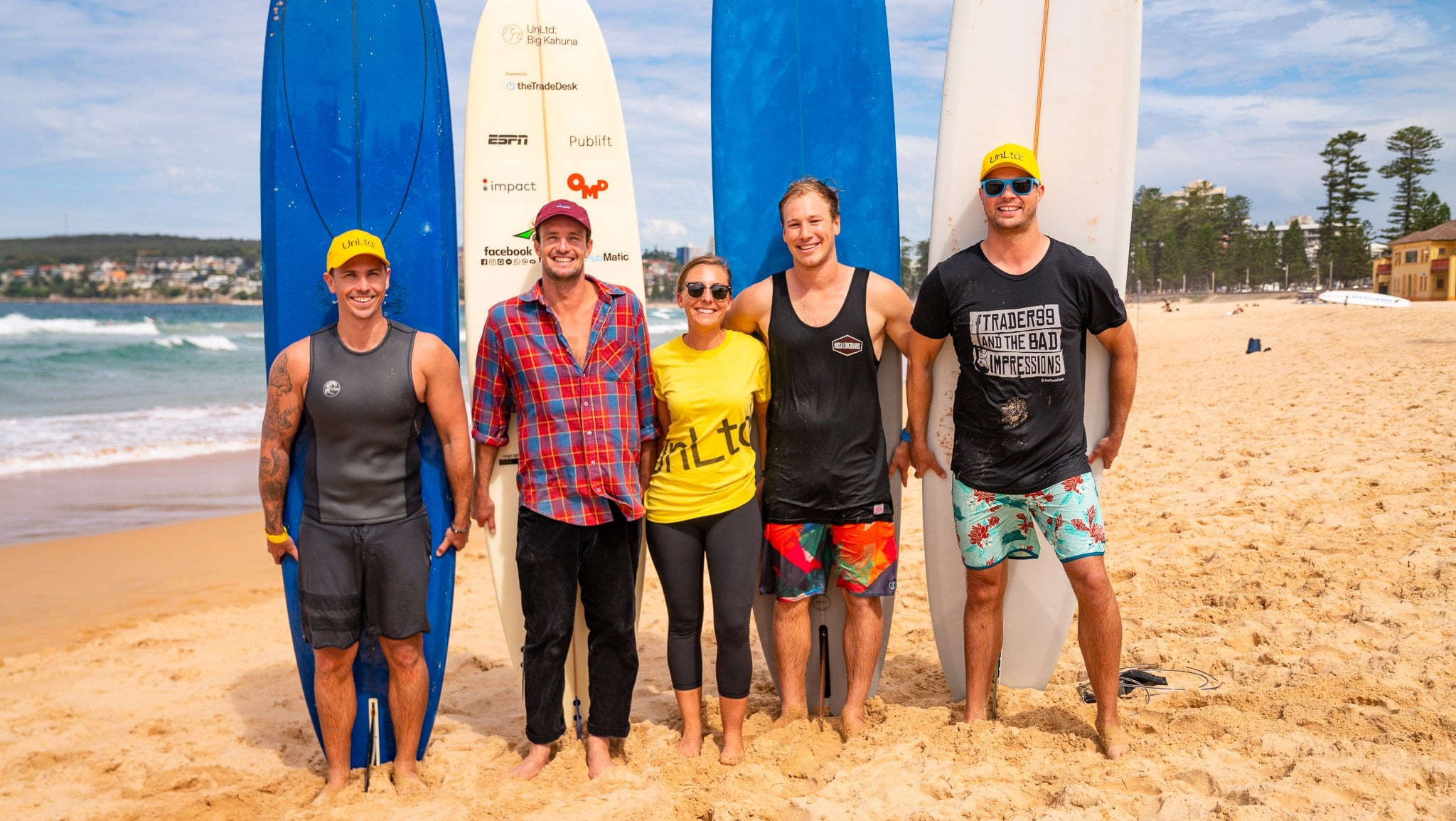 Surfing at The Big Kahuna surf charity event with UnLtd