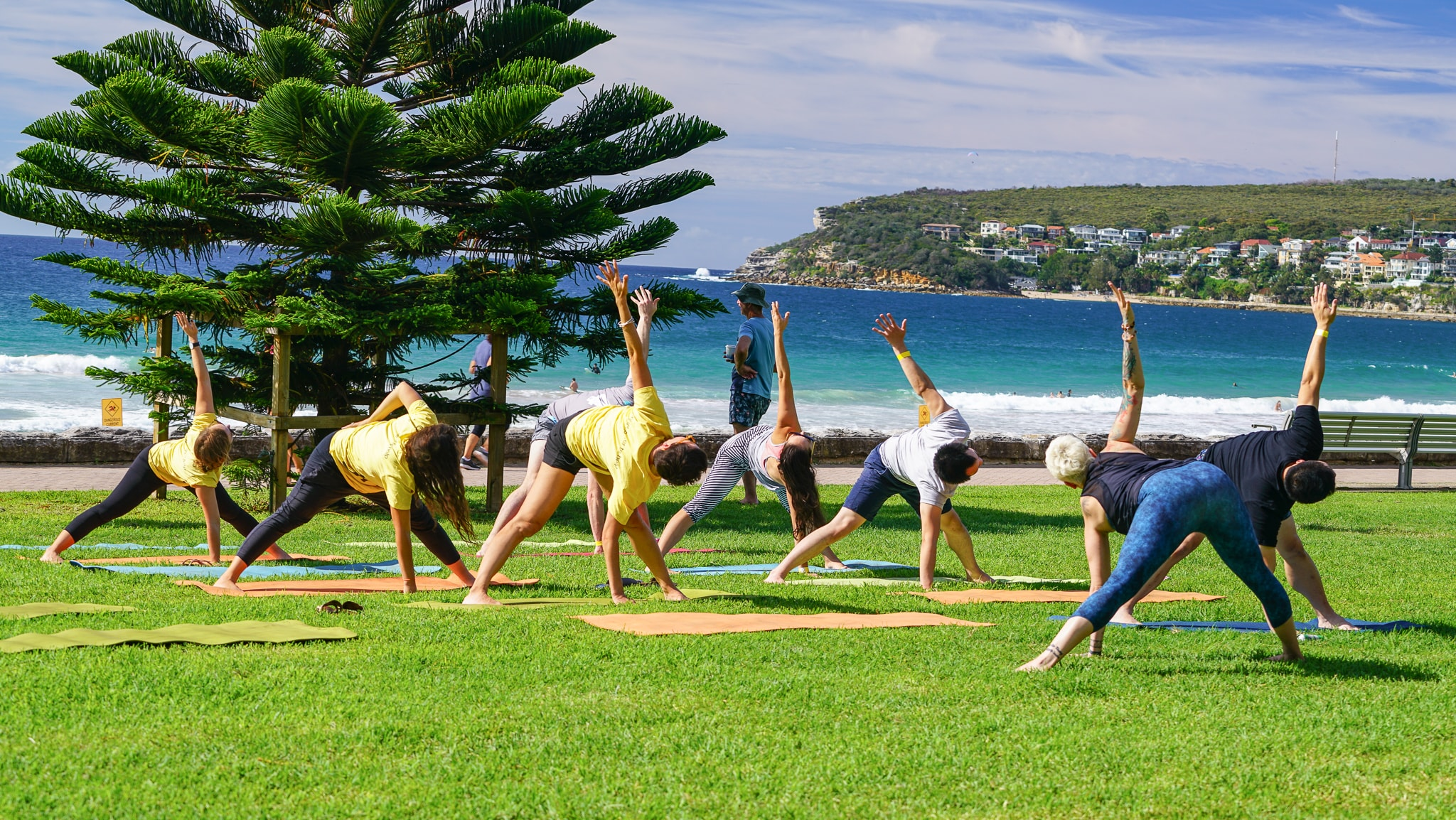 Yoga at The Big Kahuna surf charity event with UnLtd