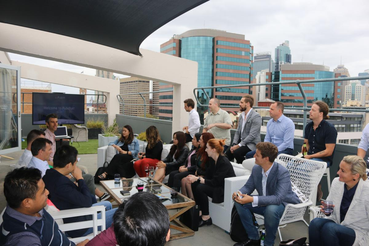 Publift staff and publishers engage in discussion at the PubChat event in Sydney