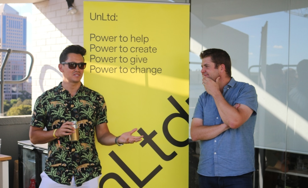 Chris from UnLtd. and Tobin from Publift. Tobin, Publift's COO, reiterates why giving back is so important