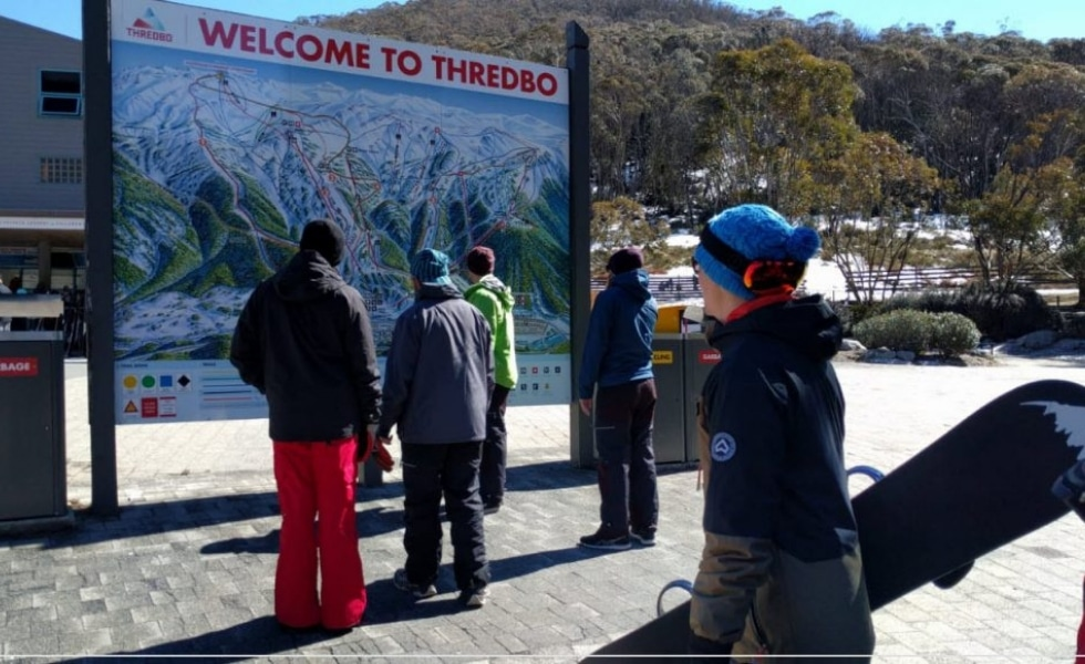 The Publift team at skiing Thredbo