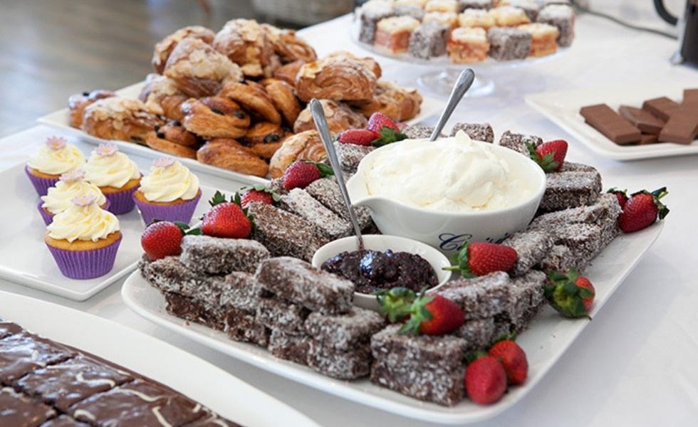 Lamingtons at Publift's Australia's Biggest Morning Tea charity event