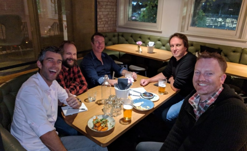 Publishers and staff chat at Publift's PubChat event in Melbourne 2018