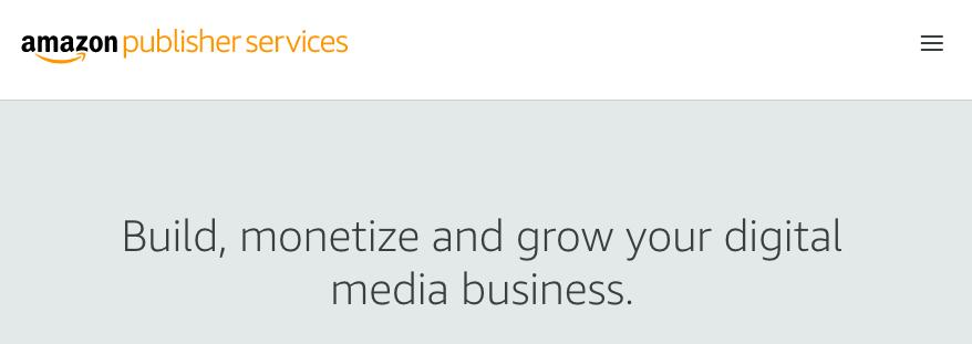 Google AdSense Alternatives - Amazon Publisher Services