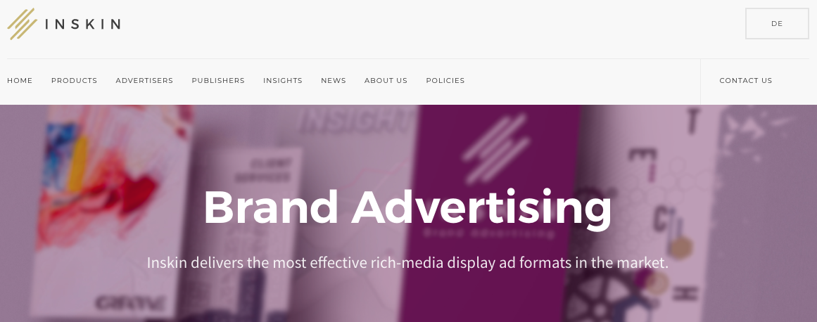 Google AdSense Alternatives - Inskin