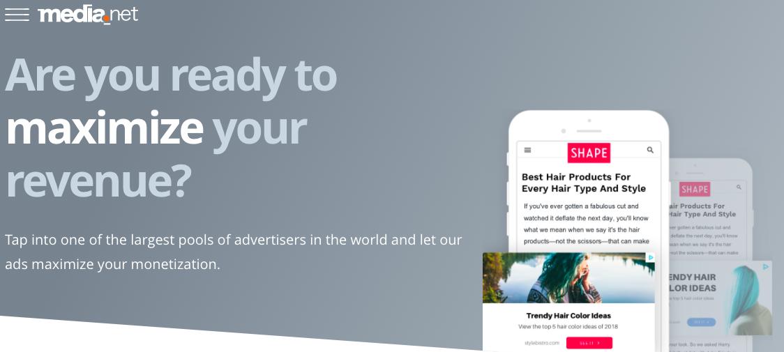 Google AdSense Alternatives - Media.net