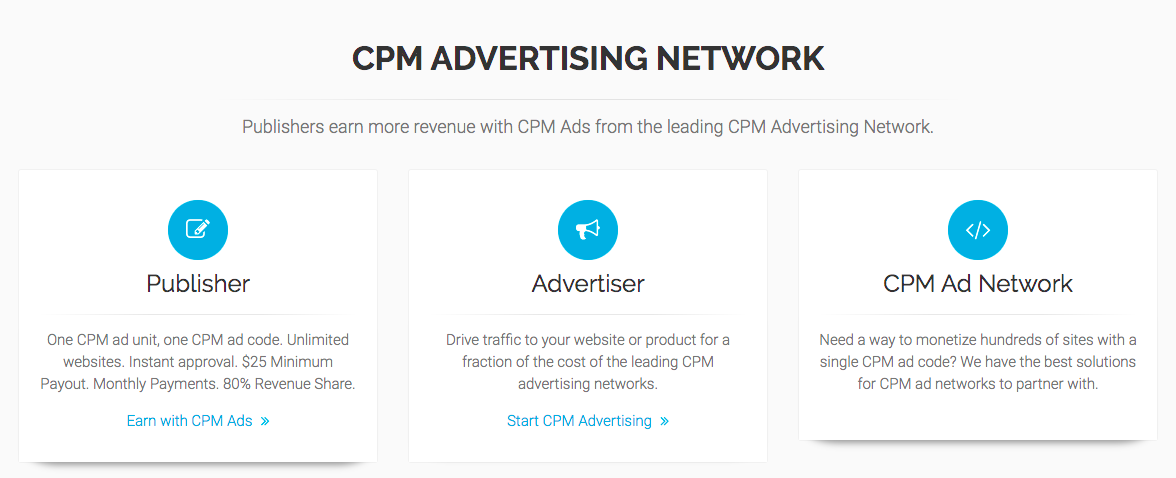 CPM Ad Networks - UberCPM