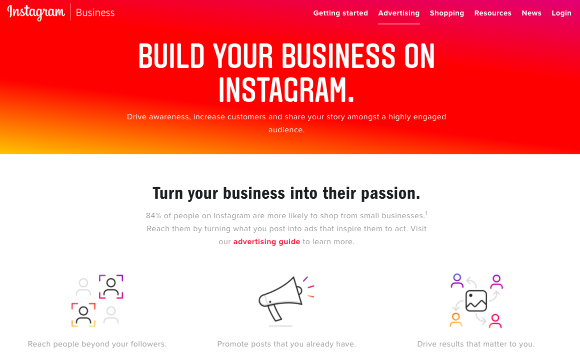 Instagram mobile ad network