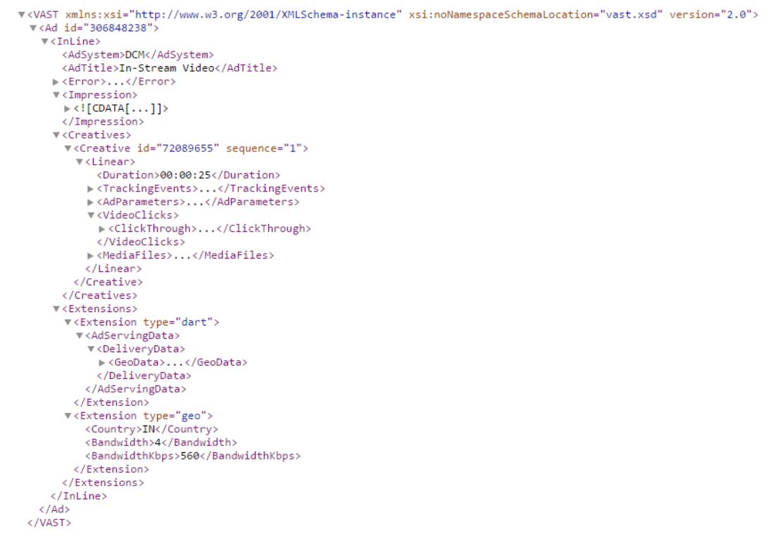 VAST Tags in XML example