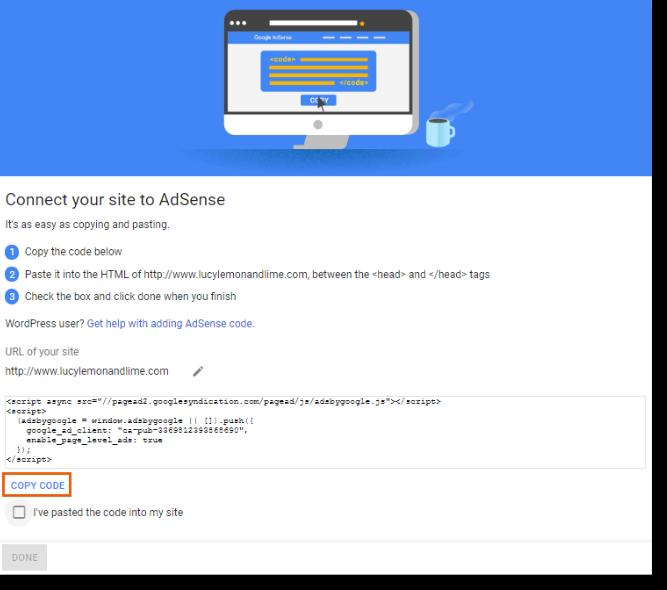 AdSense Header Code