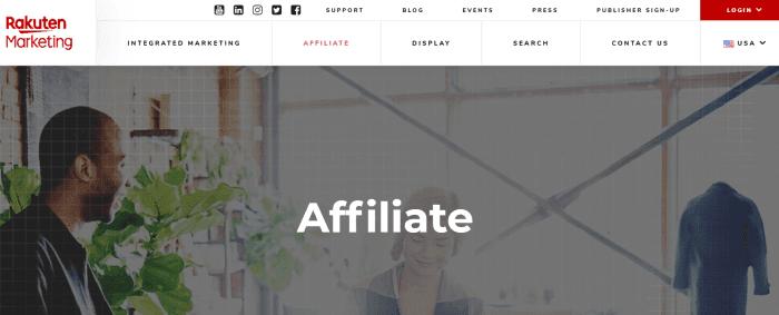 Rakuten Marketing Homepage