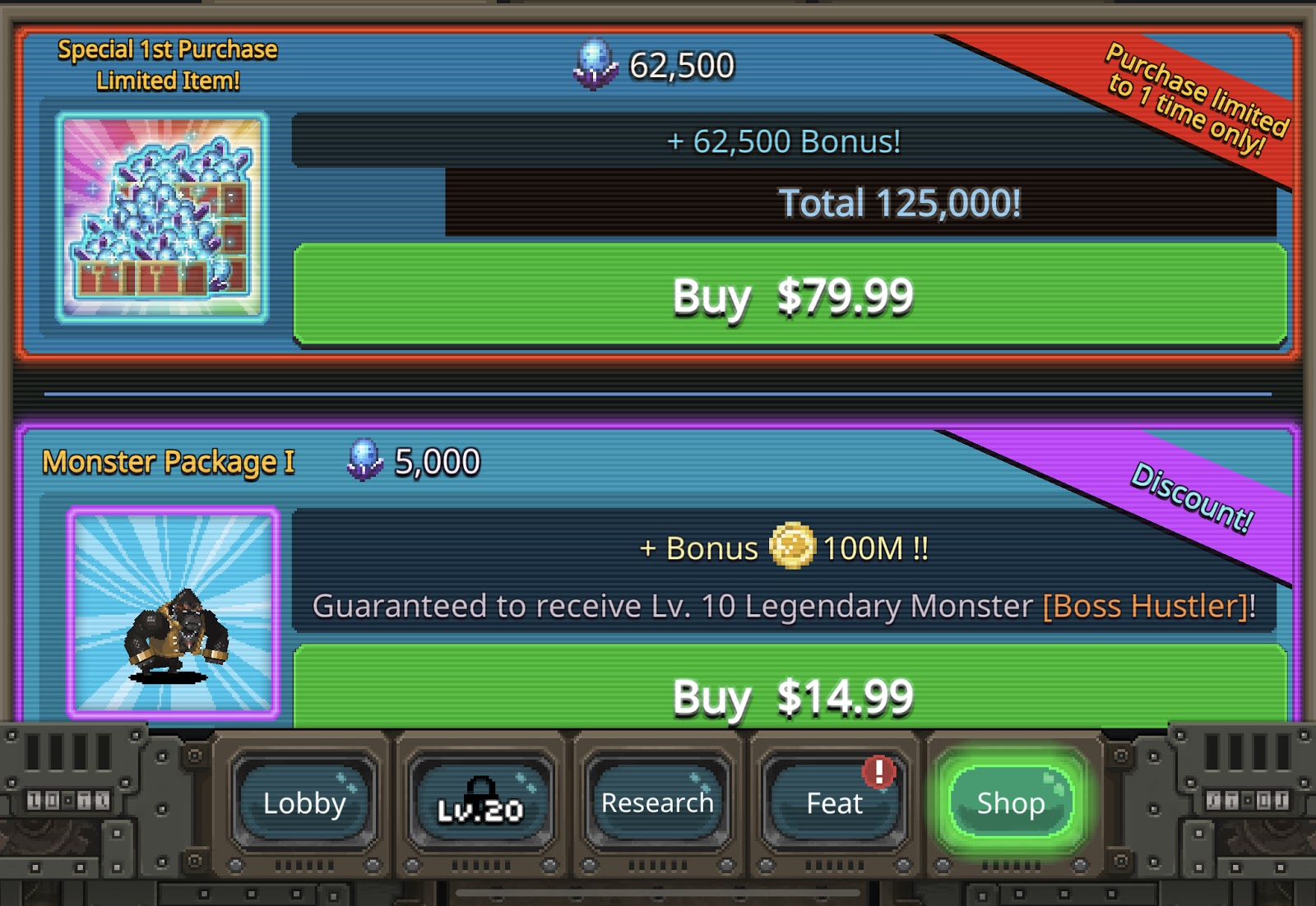In App Purchase Example in iOS Mobile Apps Source: World Beast War