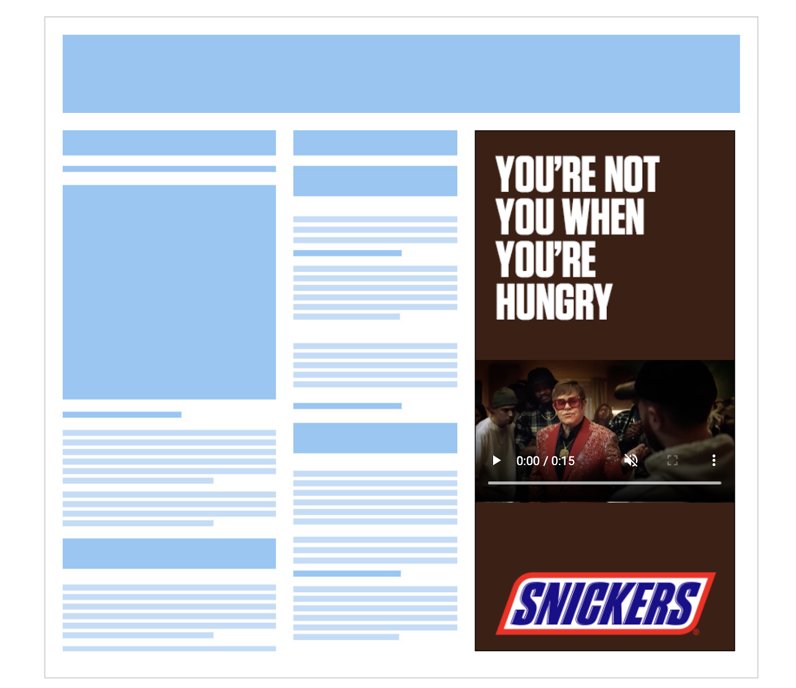 Snickers Rich Media Video Ad