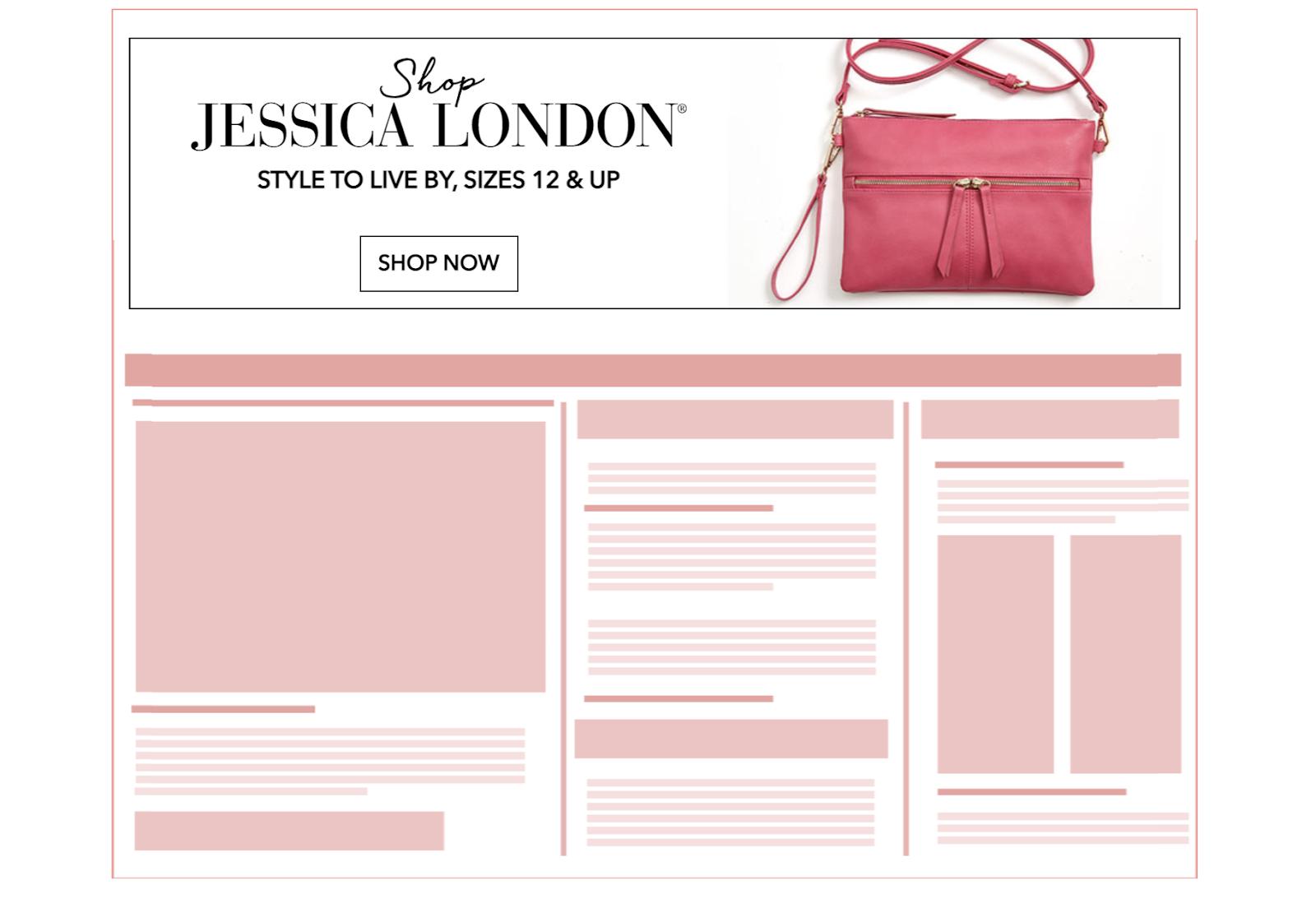 Jessica London Rich Media Banner Ad