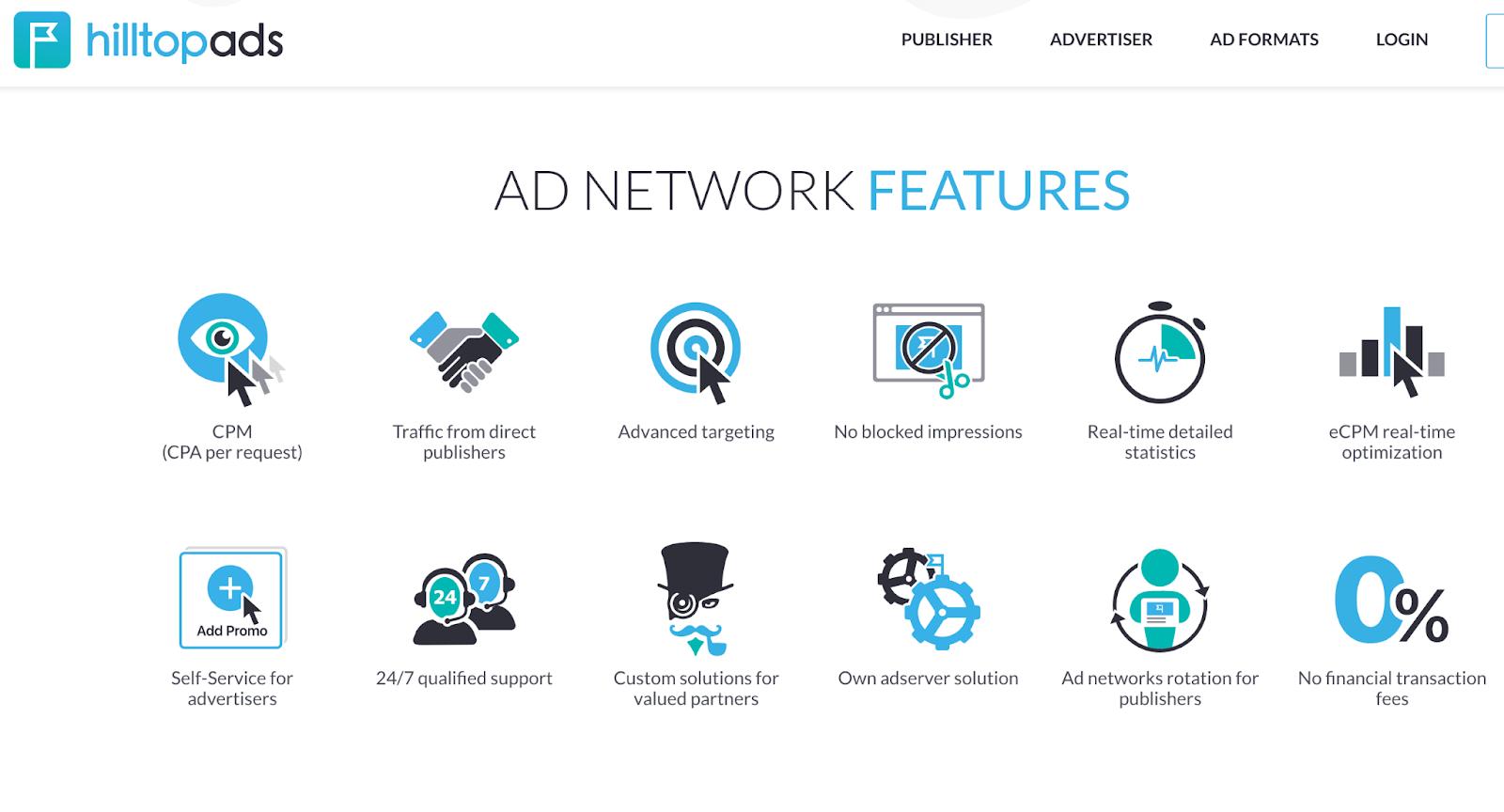 Hilltop Ads Ad Server Homepage
