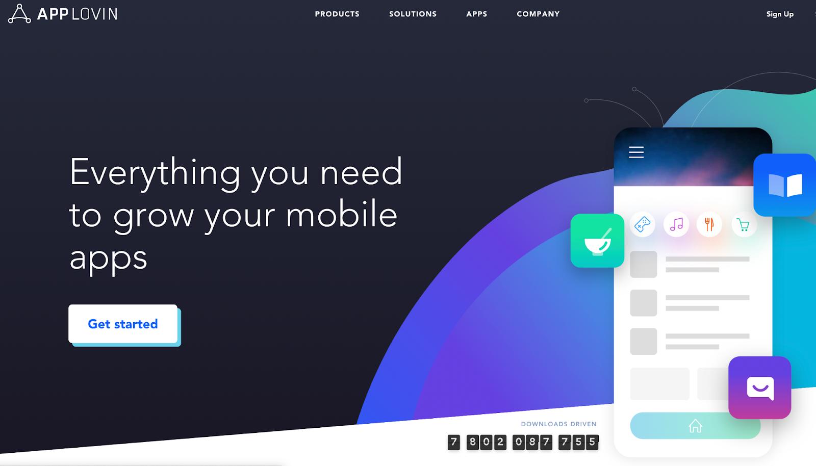 App Lovin homepage