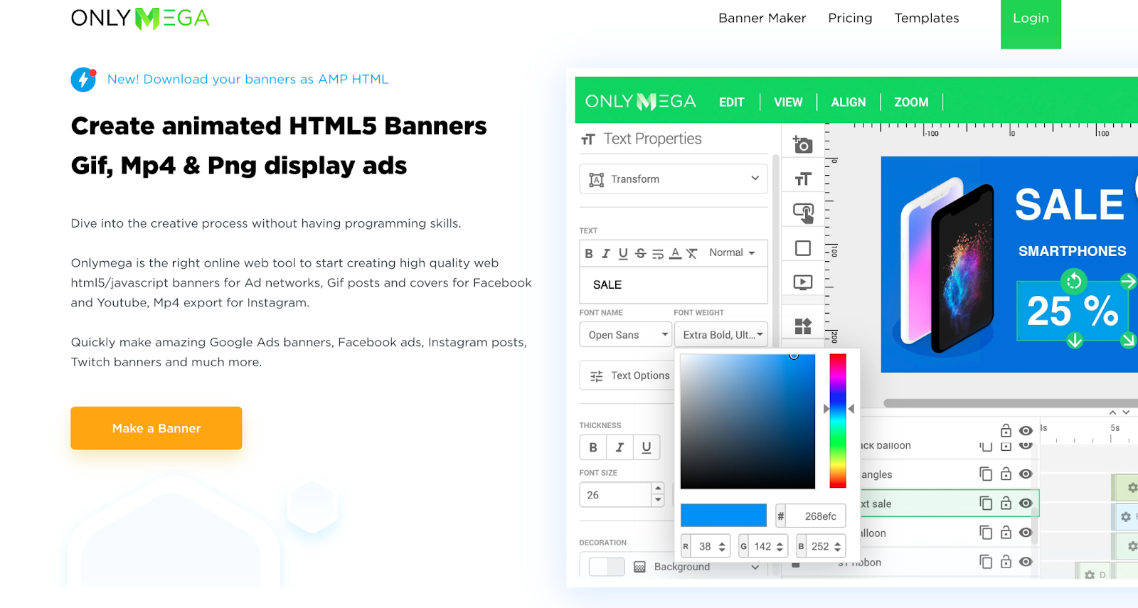 HTML5 tool for use with various ad formats