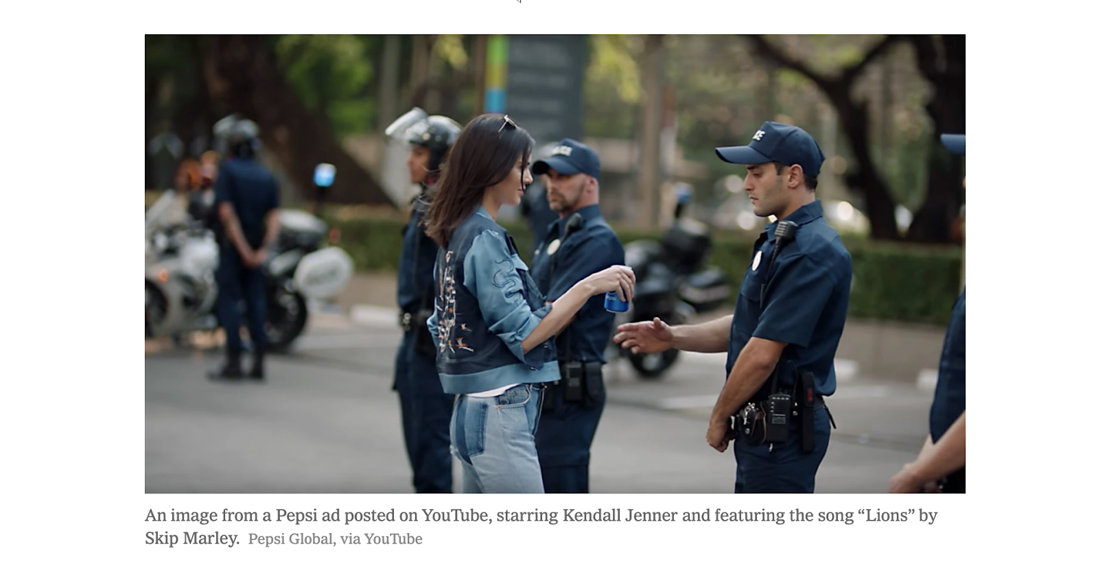 Kendall Jenner stars in Pepsi ad