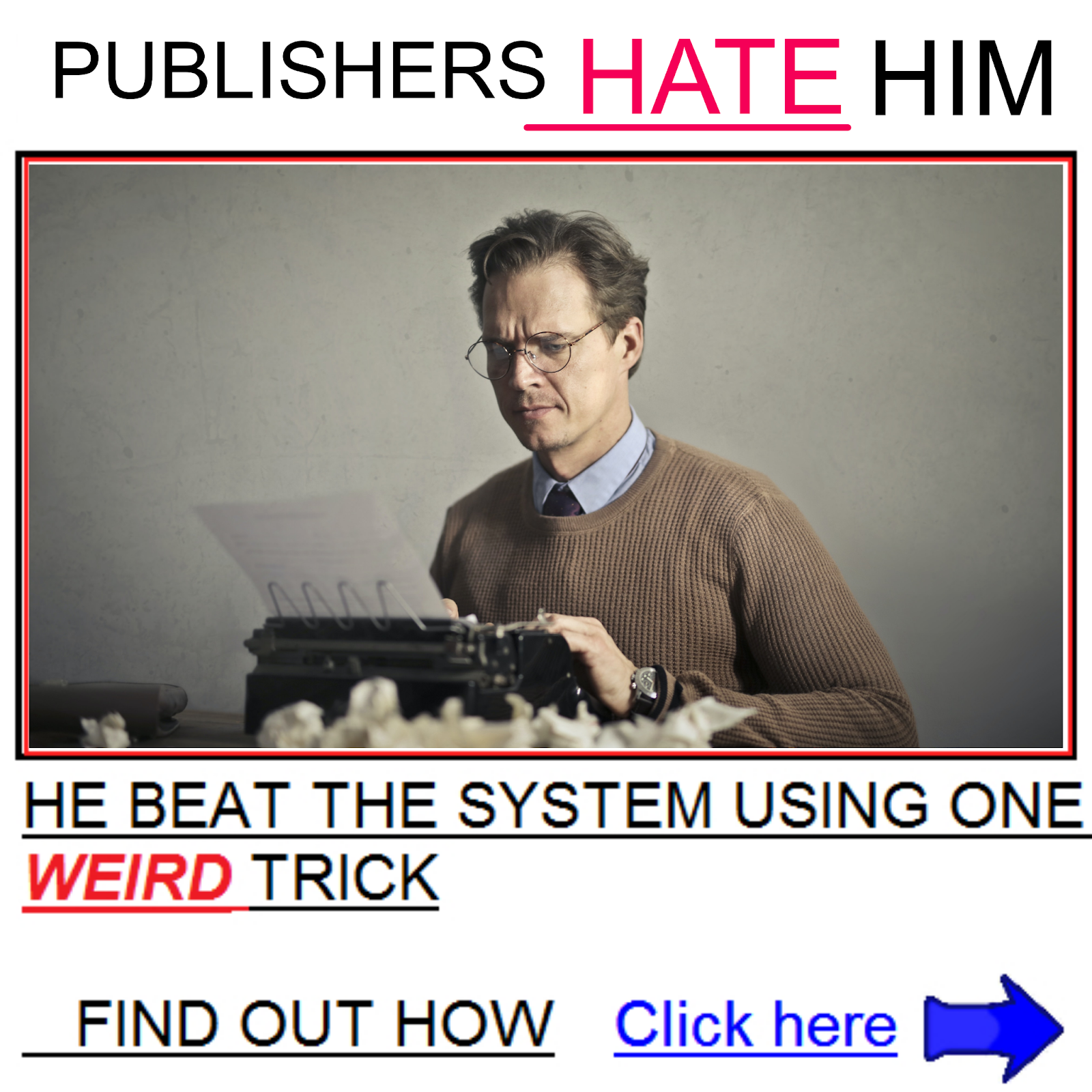 Clickbait banner ad example