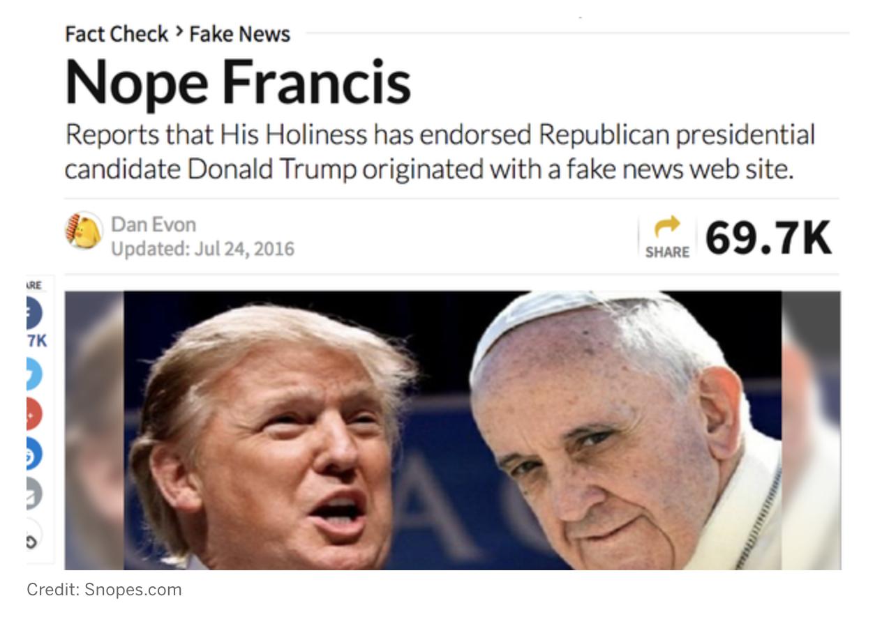 Fake News Example