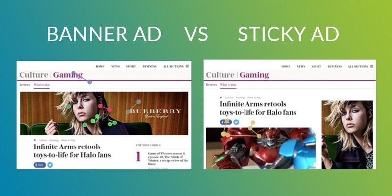 Banner ads vs Sticky Ads