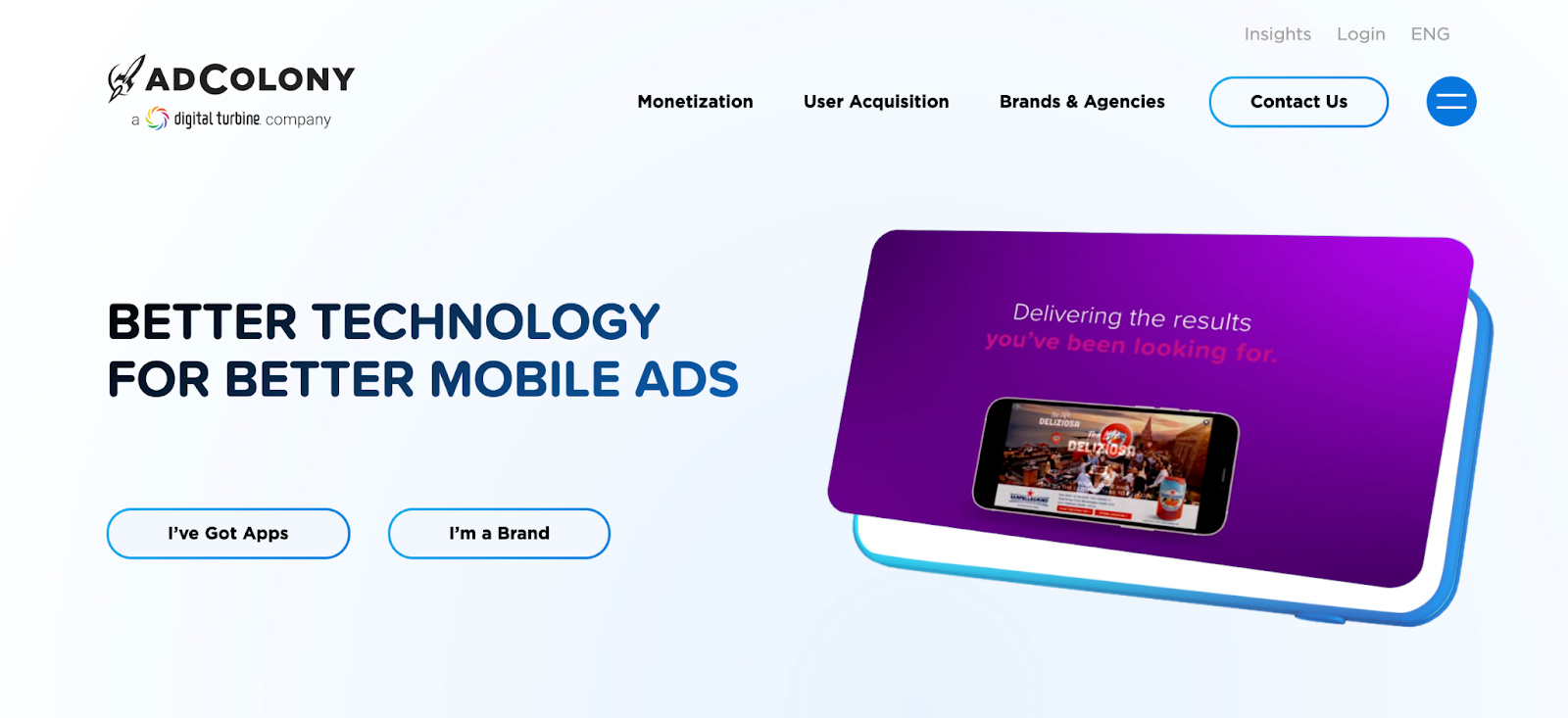 Ad Colony Homepage