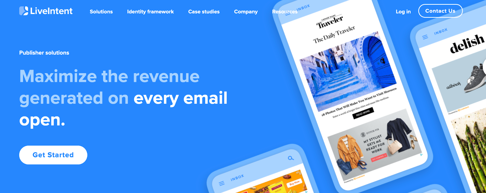 Live Intent Homepage