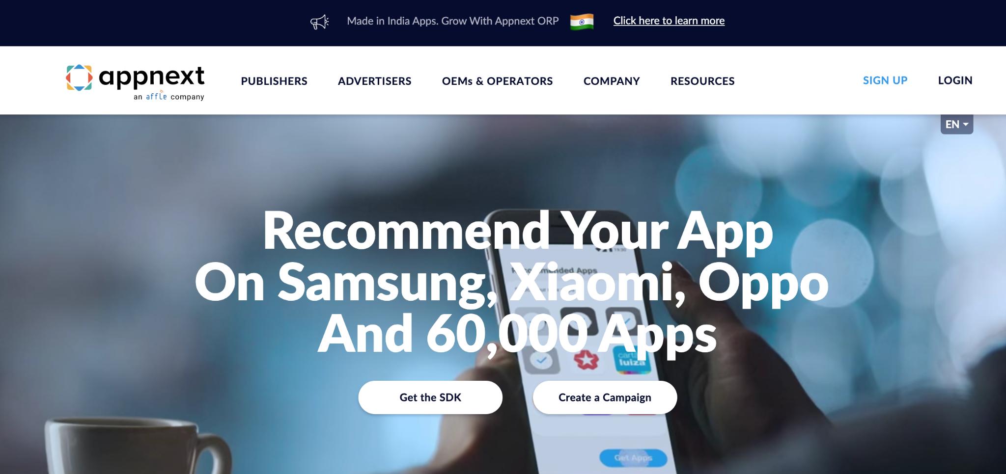 AppNext Homepage
