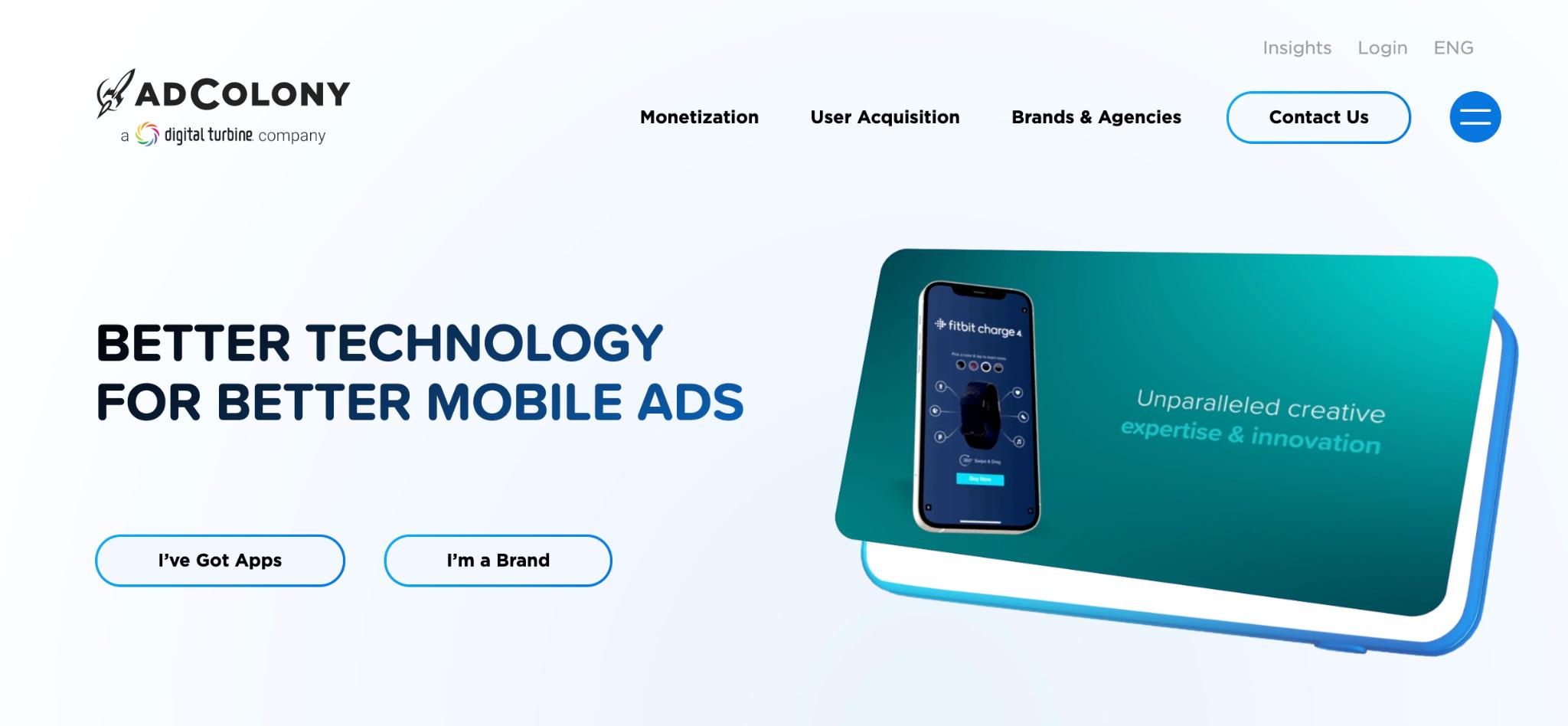 AdColony Homepage