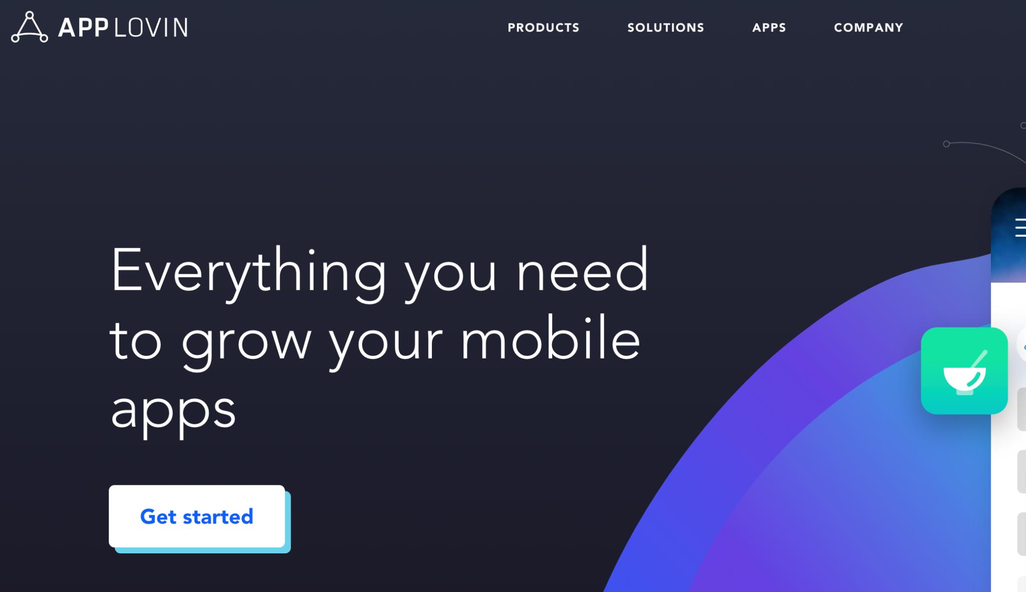 AppLovin Homepage