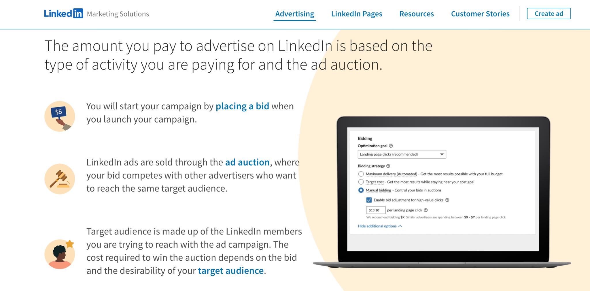 LinkedIn Mobile Ad Network Homepage