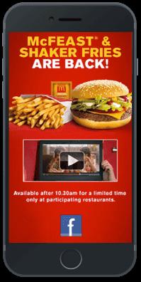 In-app advertising formats rich media