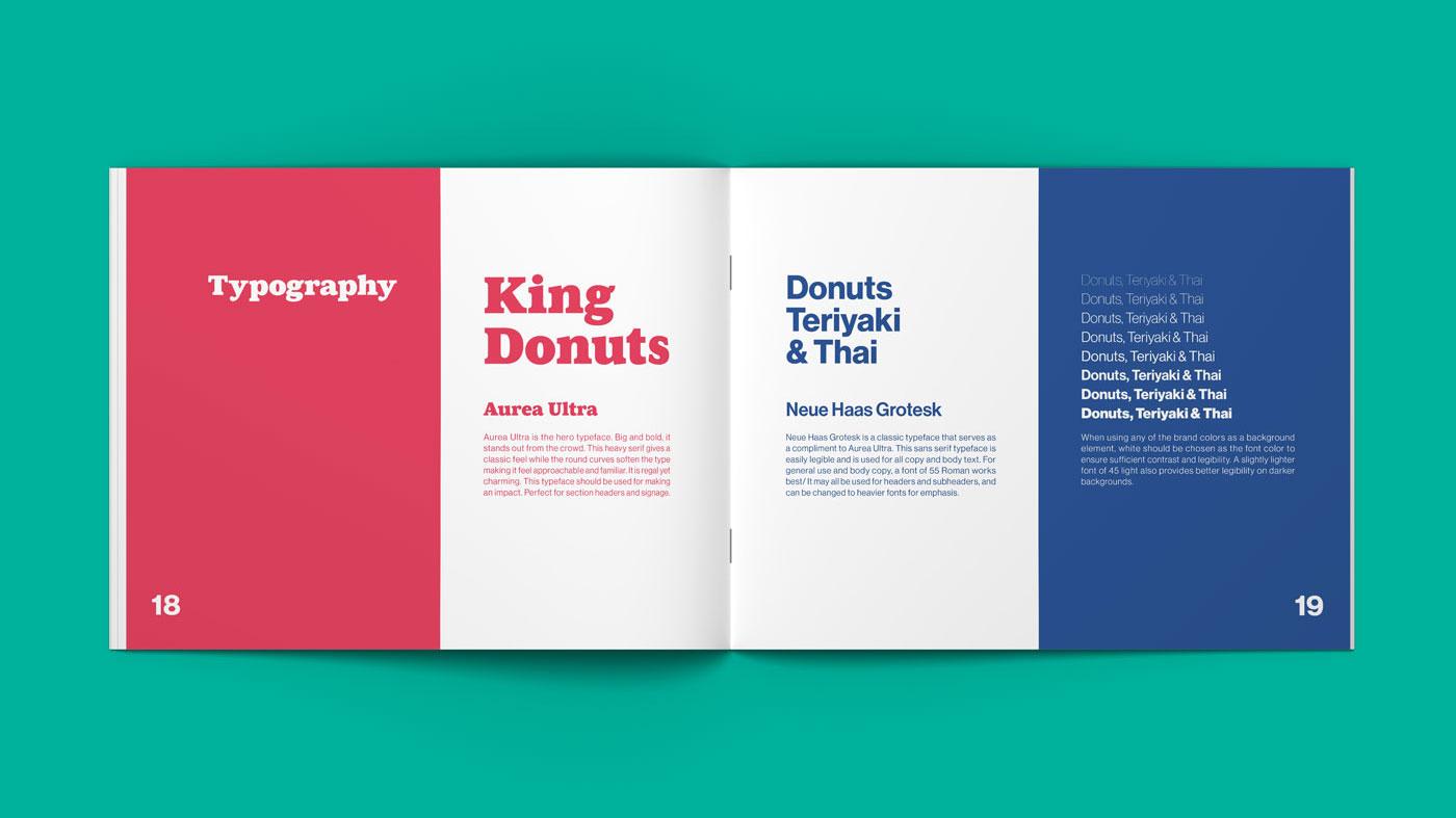 King Donuts Brand Guide Mockup